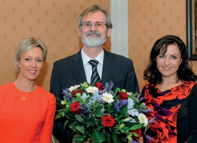 H.E. Czech Ambassador with the founders of the Czech Dutch Chamber of Commerce