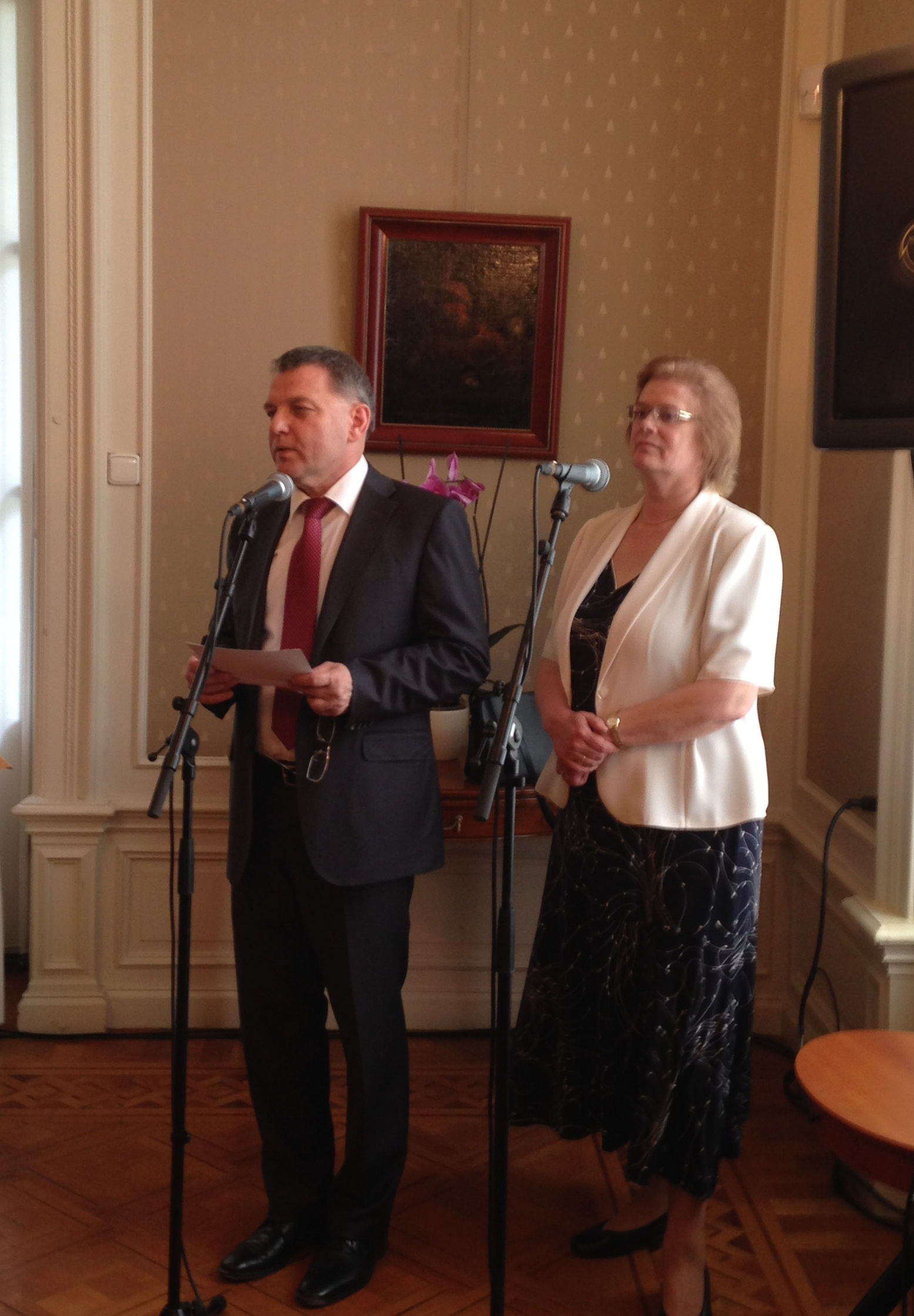 Speakers at the reception at the Czech Embassy