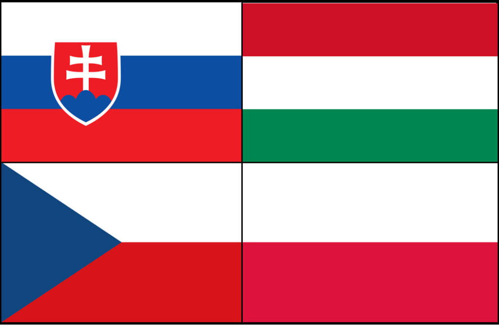 Flags of The Visegrad Group