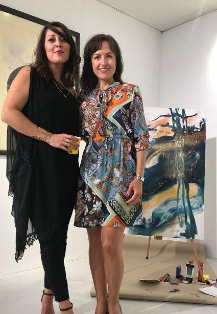 Artist Adrea Ehret with Katerina Veliskova, CDCC