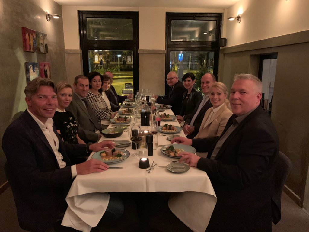 Members of the CDCC at dinner in Amsterdam