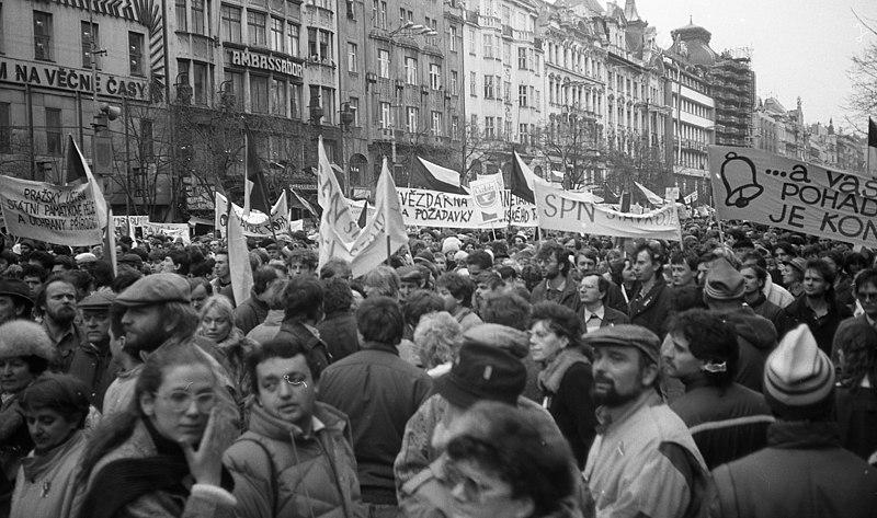 Velvet Revolution in 1989 (Source: Wikipedia)