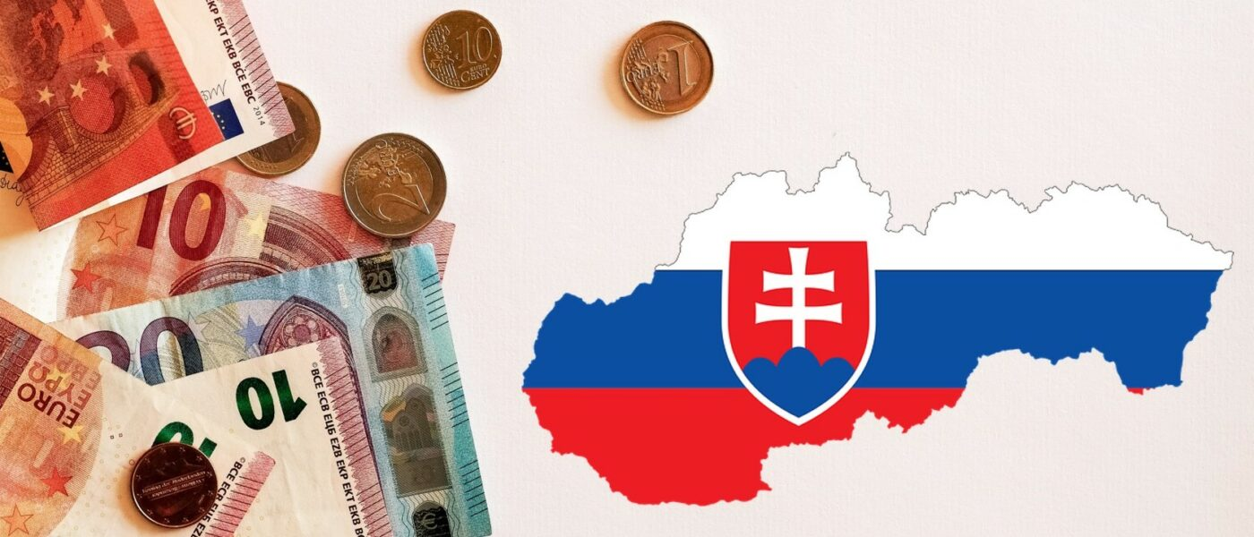 Euros and the Slovak map